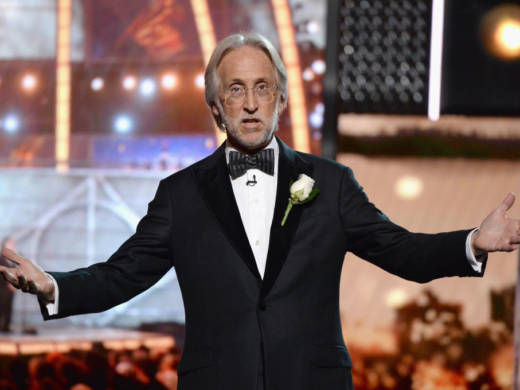 Recording Academy and MusiCares president and CEO Neil Portnow, onstage during the GrammyAwards at Madison Square Garden on Jan. 28 in New York City