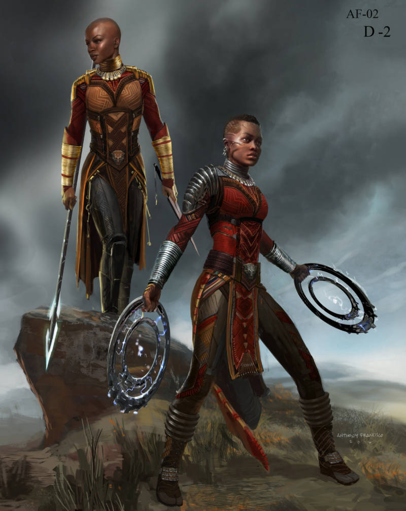 The armor worn by the Dora Milaje -- Wakanda's elite female guard -- draws on traditions from Kenya, South Africa and Namibia.