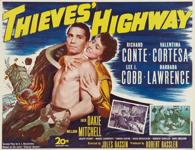 Poster from Jules Dassin's 'Thieves Highway,' 1949.