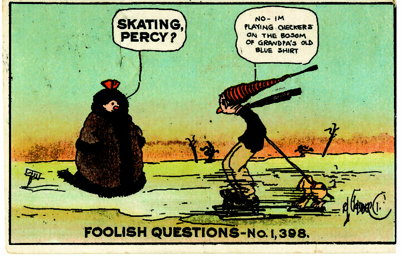 An example from one of Goldberg's most popular series, 'Foolish Questions'