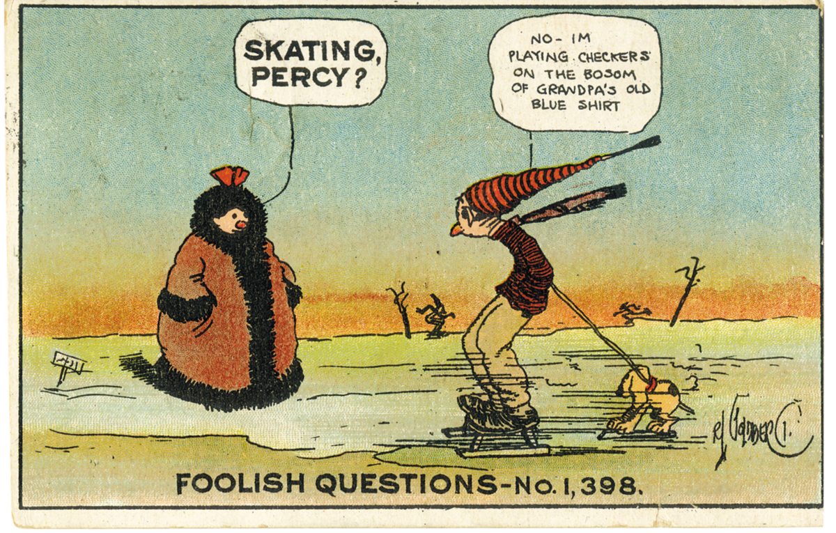 Rube Goldberg, 'Foolish Questions Postcards,' c. 1910.