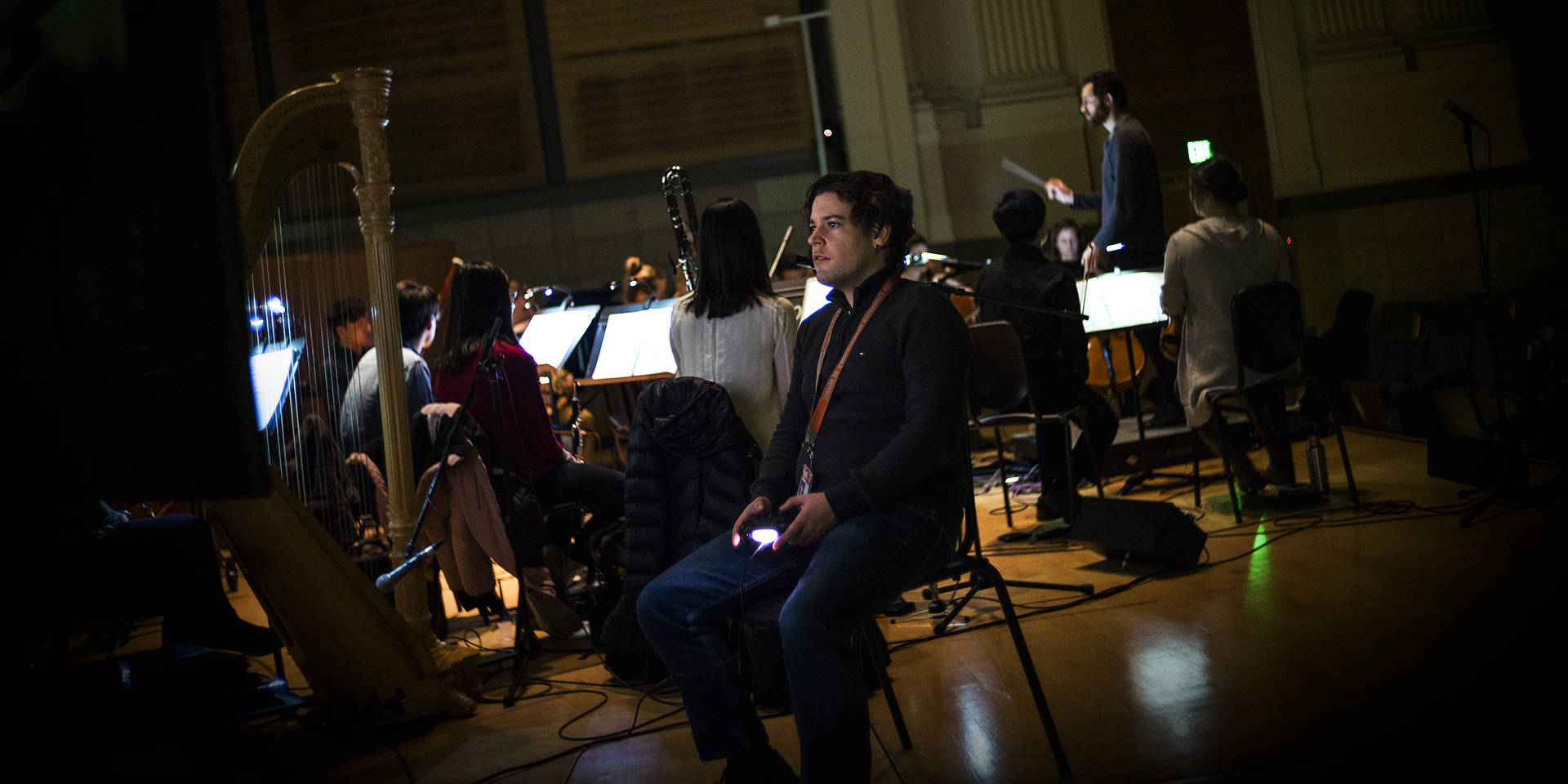 SFCM students give a live performance of the 'Journey' video game soundtrack, with the game's award-winning composer Austin Wintory as guest conductor. Courtesy of San Francisco Conservatory of Music