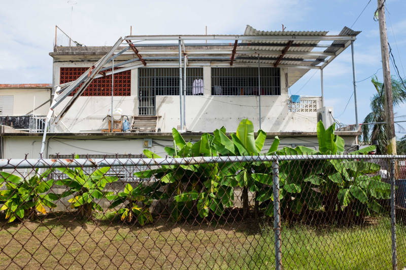 A damaged home in Yabucoa, Puerto Rico.