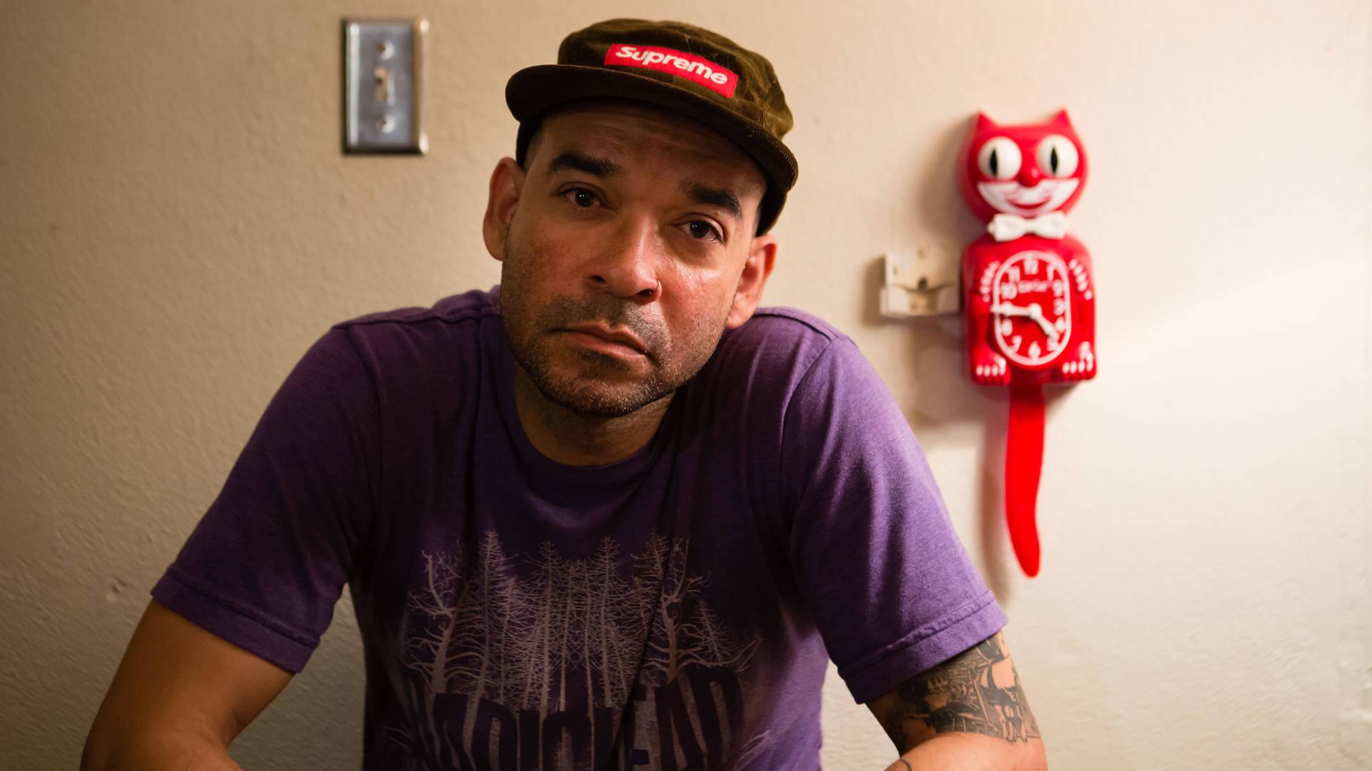 After Hurricane Maria hit, Puerto Rican artist Otura Mun got to work rebuilding his recording studio.  Bert Johnson