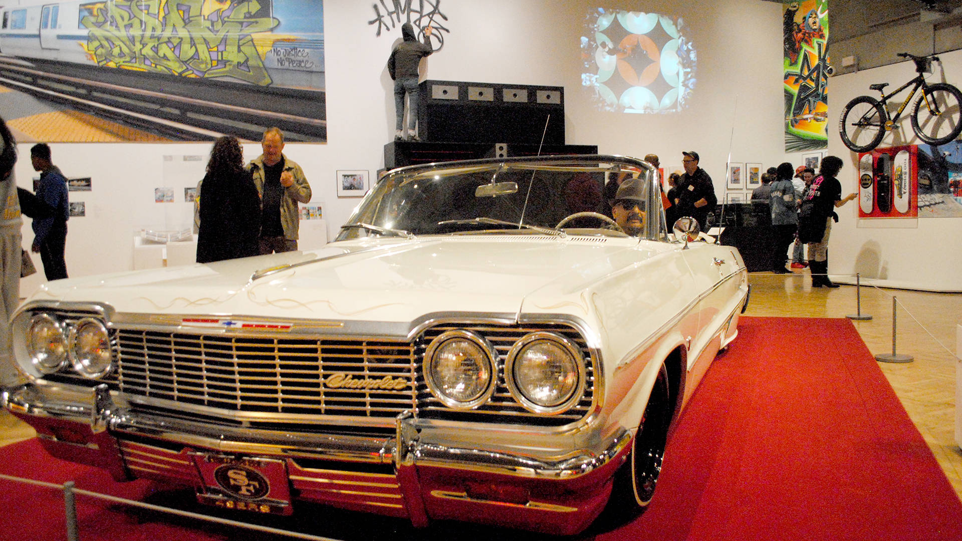 A lowrider in 'Respect: Hip-Hop Style & Wisdom' at the Oakland Museum of California pays homage to West Coast car culture. Nastia Voynovskaya