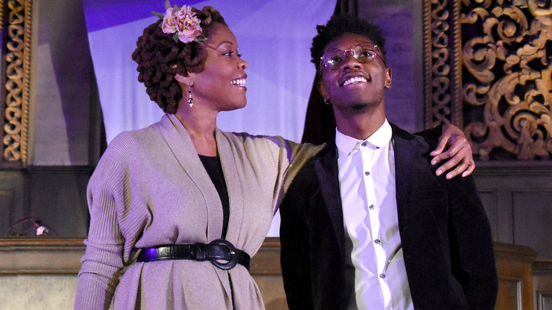Halili Knox (Viola) and Michael Curry (Marcus) in 'Dance of the Holy Ghosts.'  Simone Finney