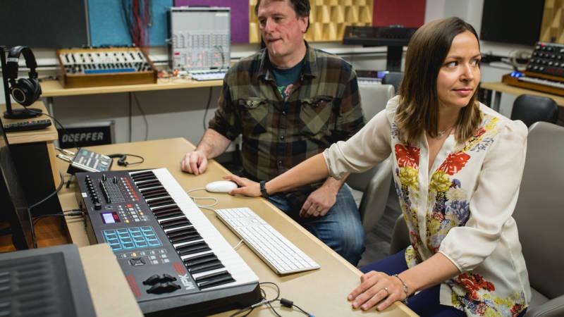 Daria Novo and Dren McDonald in the studio.