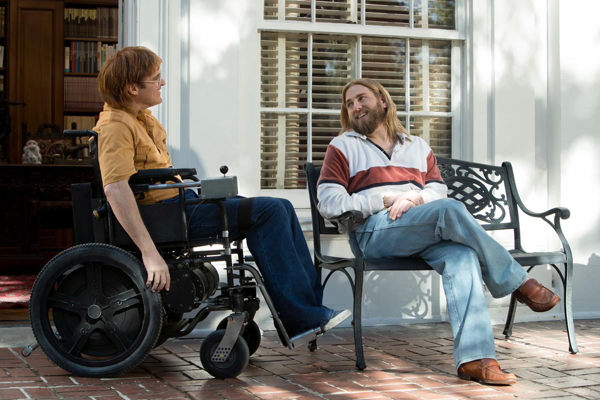 Joaquin Phoenix and Johah Hill appear in 'Don't Worry, He Won't Get Far On Foot,' by Gus Van Sant.