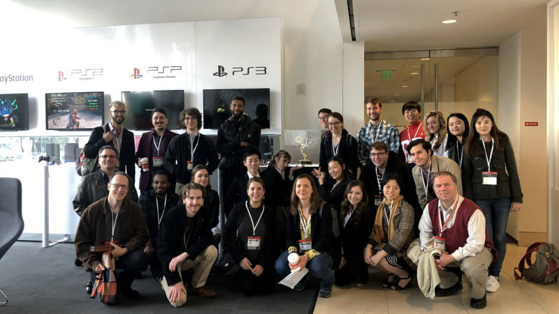 TAC students at the Sony Playstation headquarters in San Mateo.