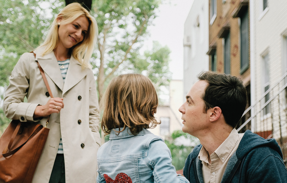 Claire Danes, Jim Parsons, and Leo James Davis appear in 'A Kid Like Jake' by Silas Howard.