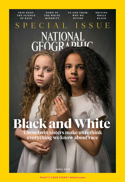 The April issue of 'National Geographic' is dedicated to an examination of race.