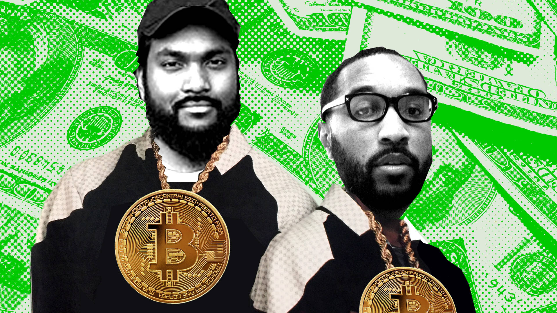 Rappers Big Baby Gandhi (left) and Beejus (right) believe in blockchain technology's potential to transform the music industry.  Zaldy Serrano