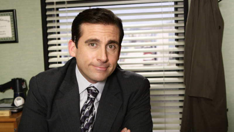Steve Carrell as Michael Scott on the set of 'The Office' in 2008.