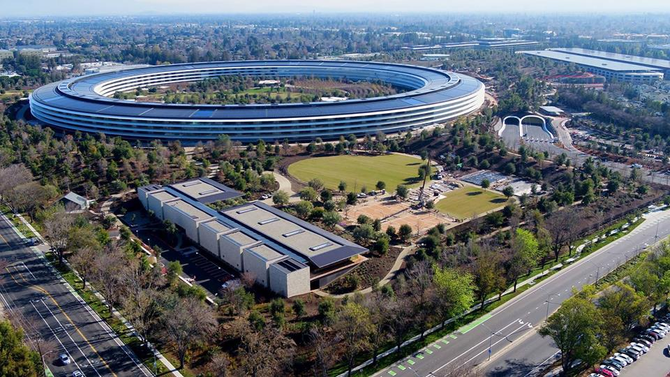 Apple Cracks Down on Drones Filming Construction of Apple Park