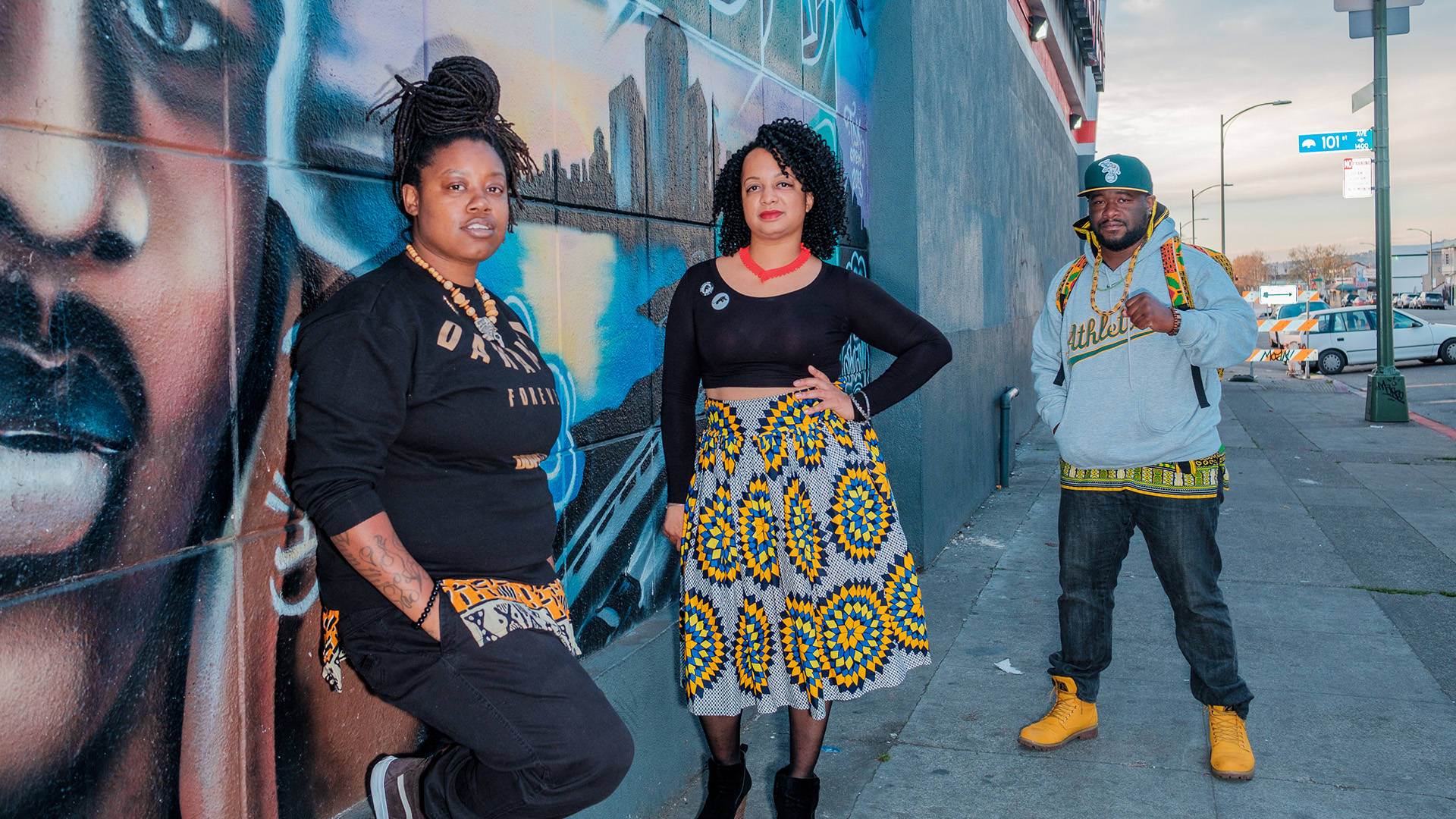 Keta Price, Candice Elder and Nick Houston (left to right) spearhead grassroots efforts to help the homeless through the East Oakland Collective.  Charles Lee/@picturemesirius