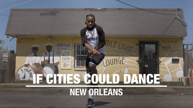 "Rodrick ""Scubble"" Davis dancing on the streets of New Orleans"