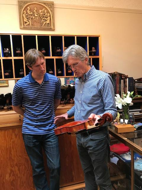 Julian and Mick Loveland in the family's Santa Rosa shop.