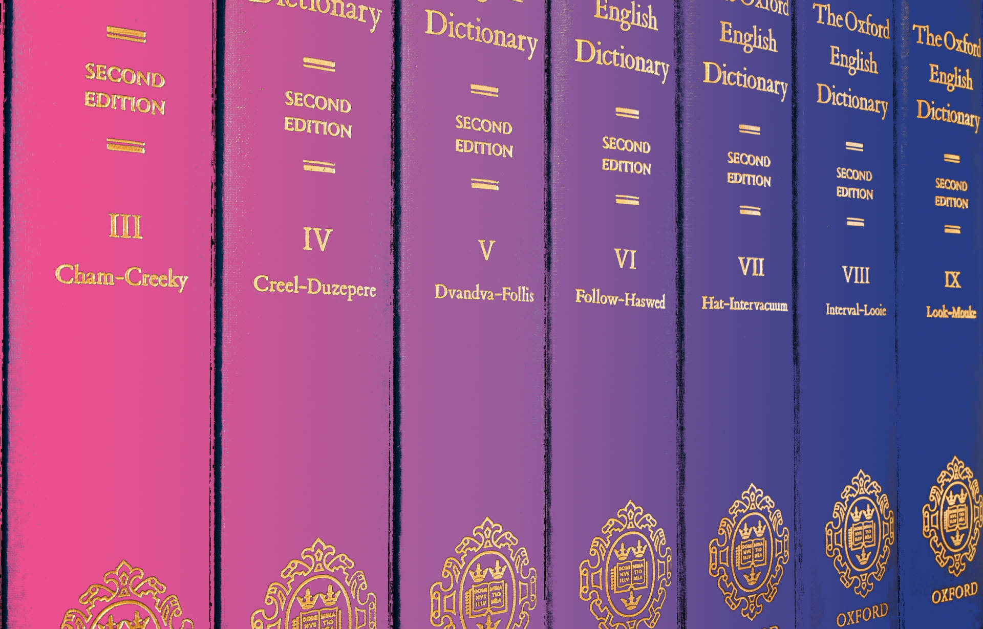 Photo collage by Ingrid Rojas Contreras. The Oxford English Dictionary. Wikimedia commons.