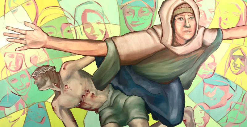 """""""Parkland Pieta in Stained Glass"""" by Kevin Davidson"""