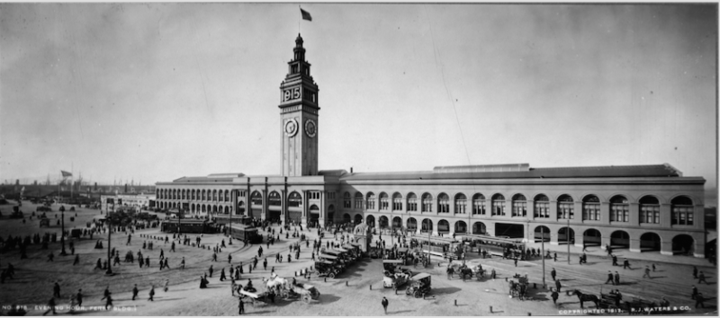 Inez Burns launched her career in the early years of the 20th century. Many prospective customers would find their way to her when they landed in San Francisco at the Ferry Building. This image dates from Sep., 1912.