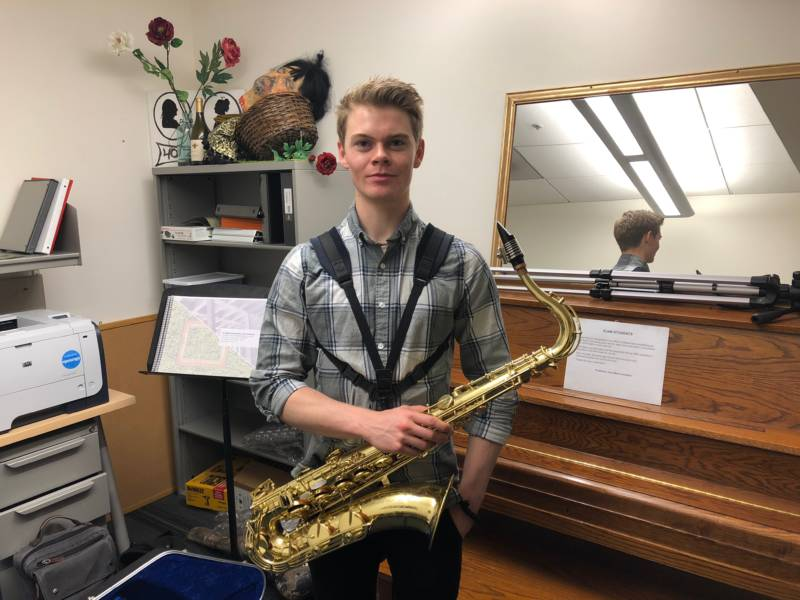 Freshman jazz student Jayden Clark