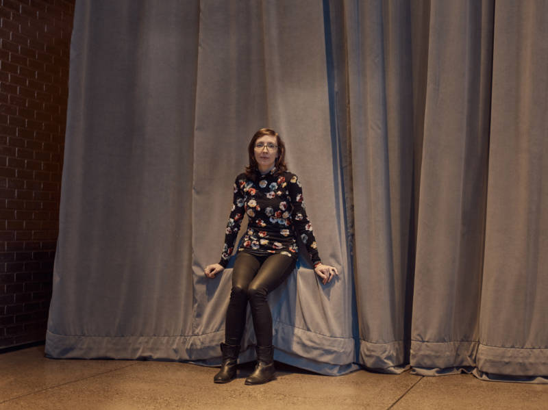 Mary Halvorson at The Andy Warhol Museum in Pittsburgh in March, just before a performance of songs from her latest album, <em>Code Girl</em>.