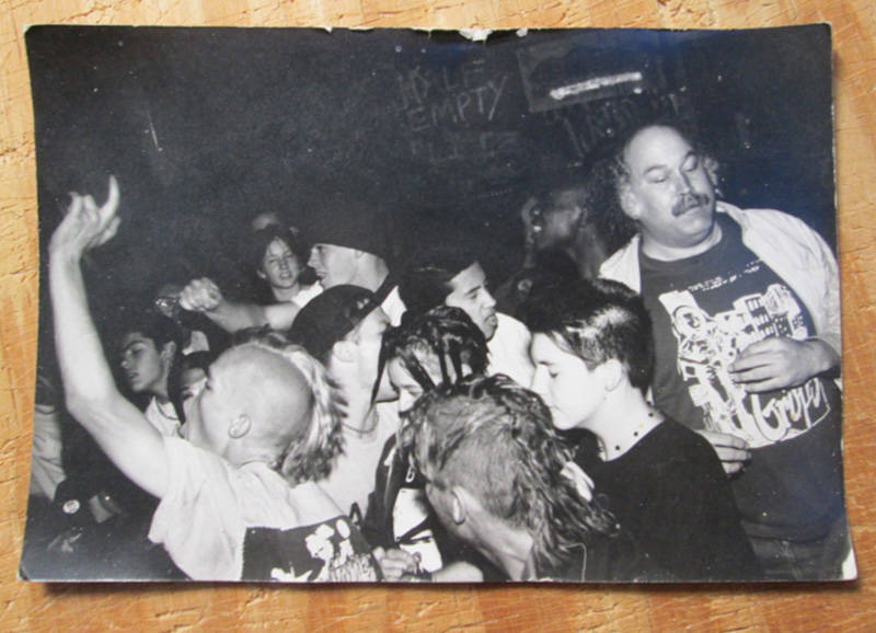 Steve Koepke at a show at 924 Gilman sometime in the '90s.