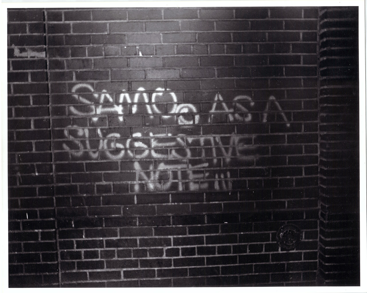 A SAMO tag in 'Boom for Real.'