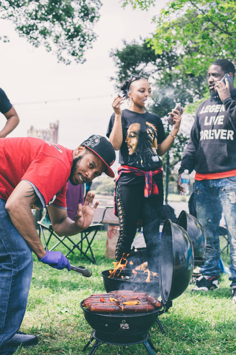 After a white woman made a racially charged police complaint about a black family barbecuing, black Oaklanders made their presence known at BBQ'n While Black on May 20.