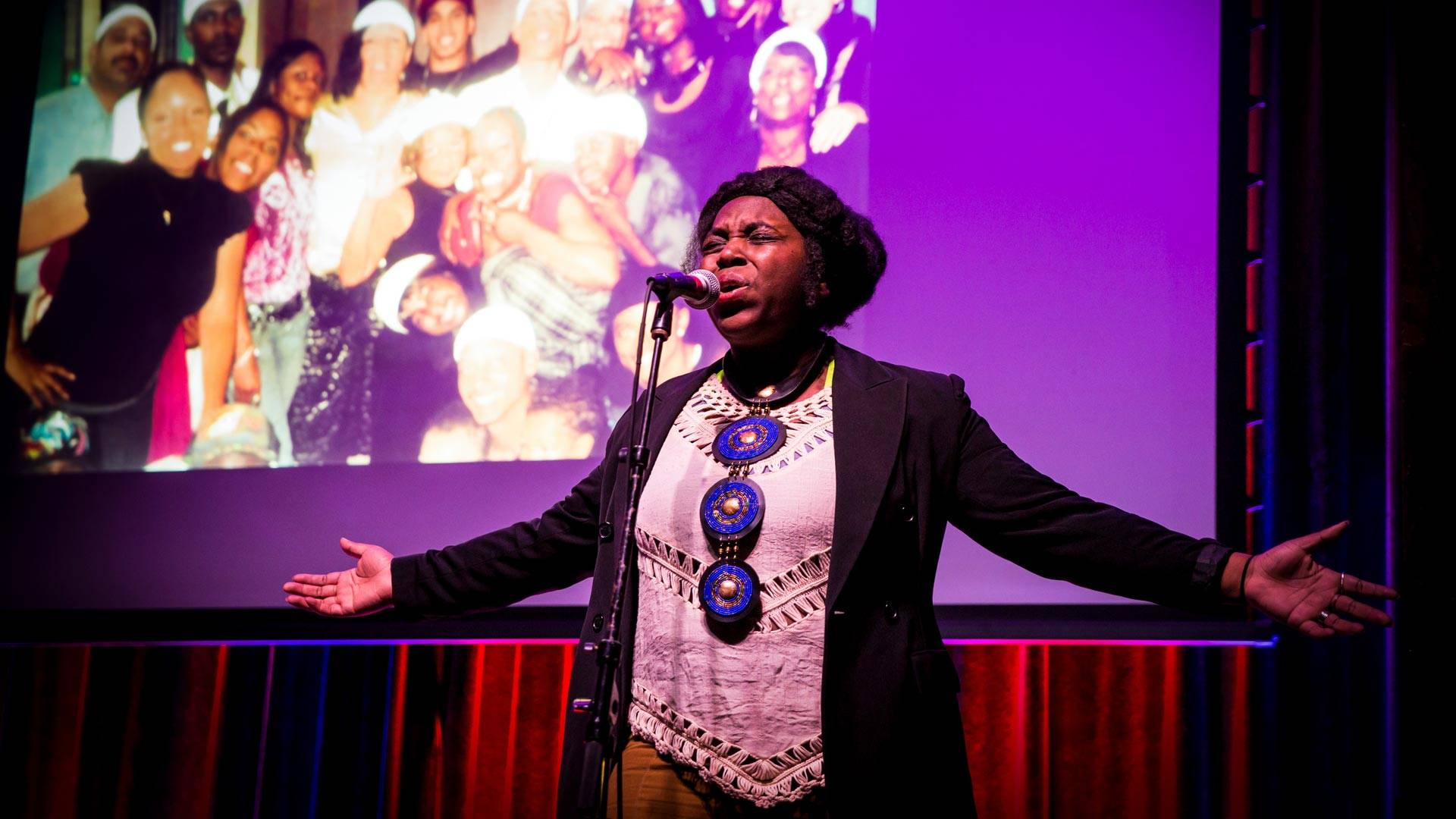 Angelica Ekeke presents 'The Removal' at Swedish American Hall in April 2018. Courtesy Angelica Ekeke