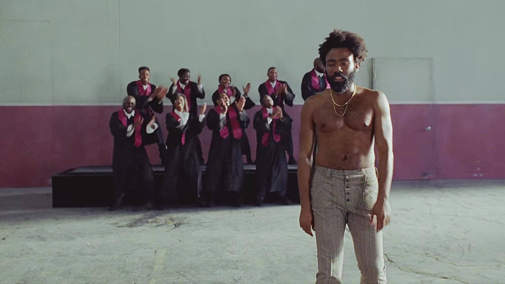Childish Gambino, in a still from 'This Is America.'  Vevo