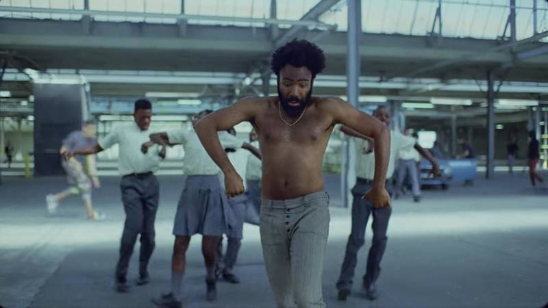 Childish Gambino, in a still from 'This Is America.'