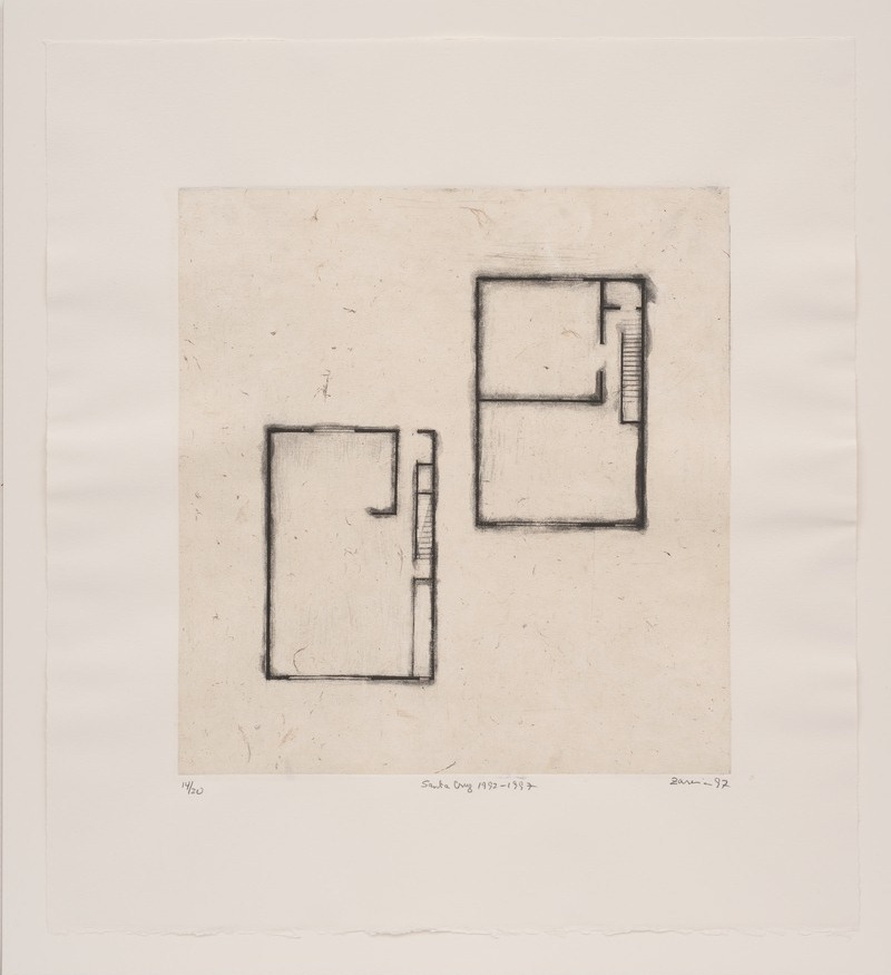 Zarina Hashmi, Detail of 'Homes I Made/A House in Nine Lines,' 1997.