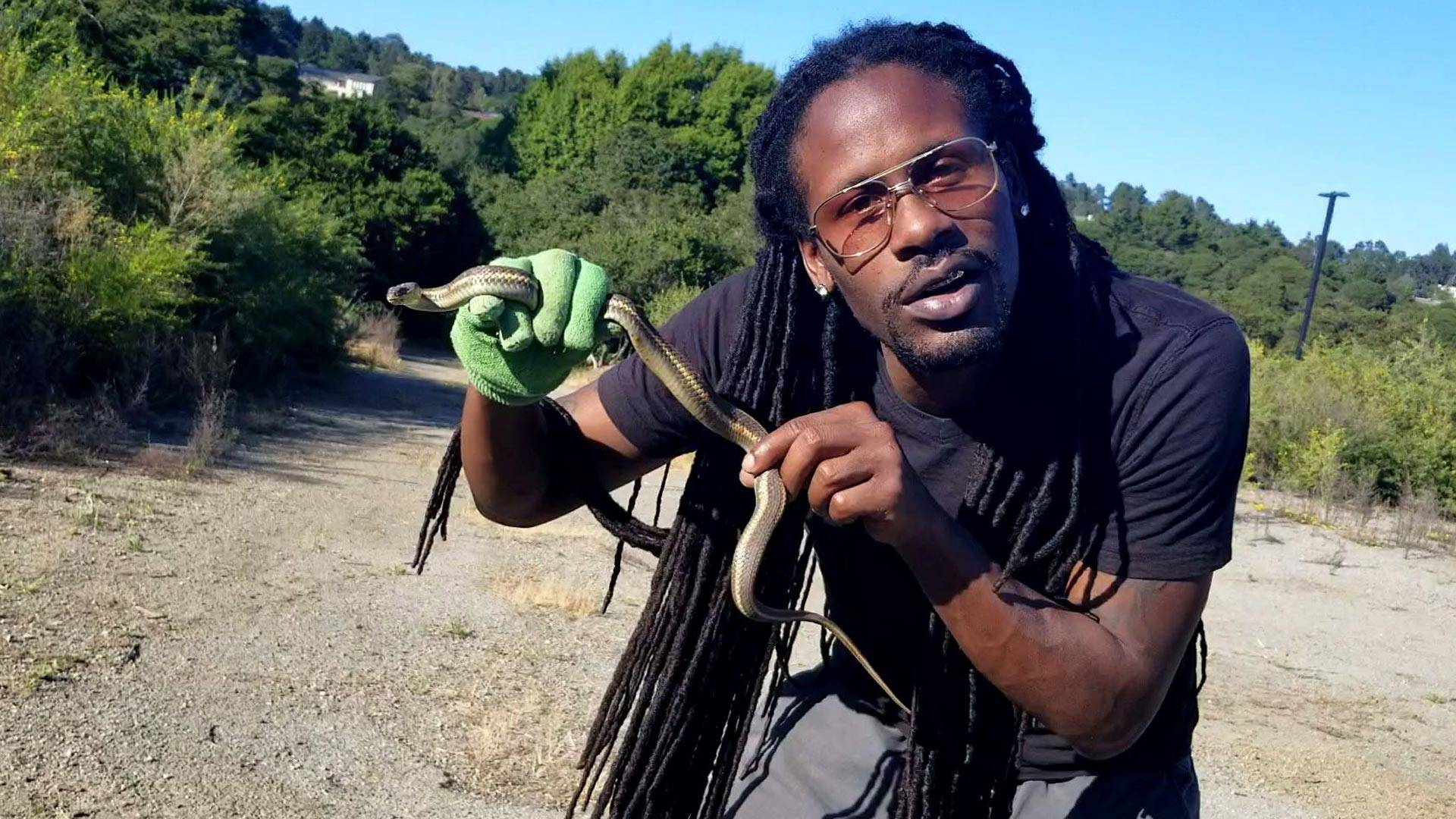 With a lifelong love of wildlife, Scid Howard explores the areas of the East Bay where reptiles hide. Courtesy Scid Howard