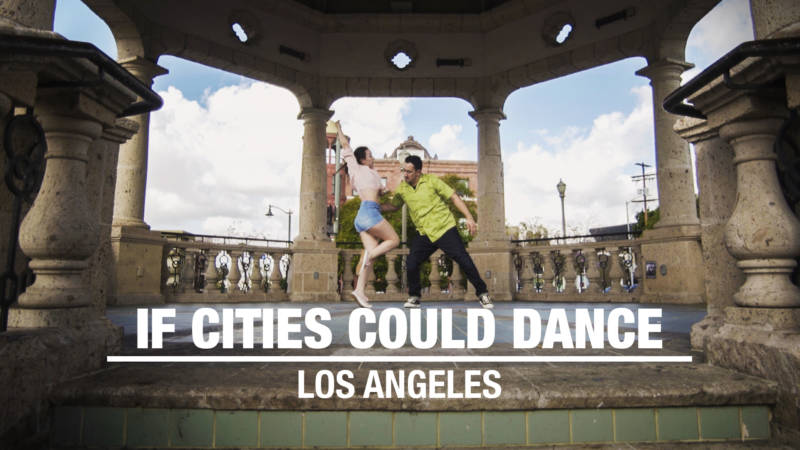 Dancers Lily Ontiveros and Roberto Lambaren, a.k.a. Rawbzilla, dancing in Los Angeles