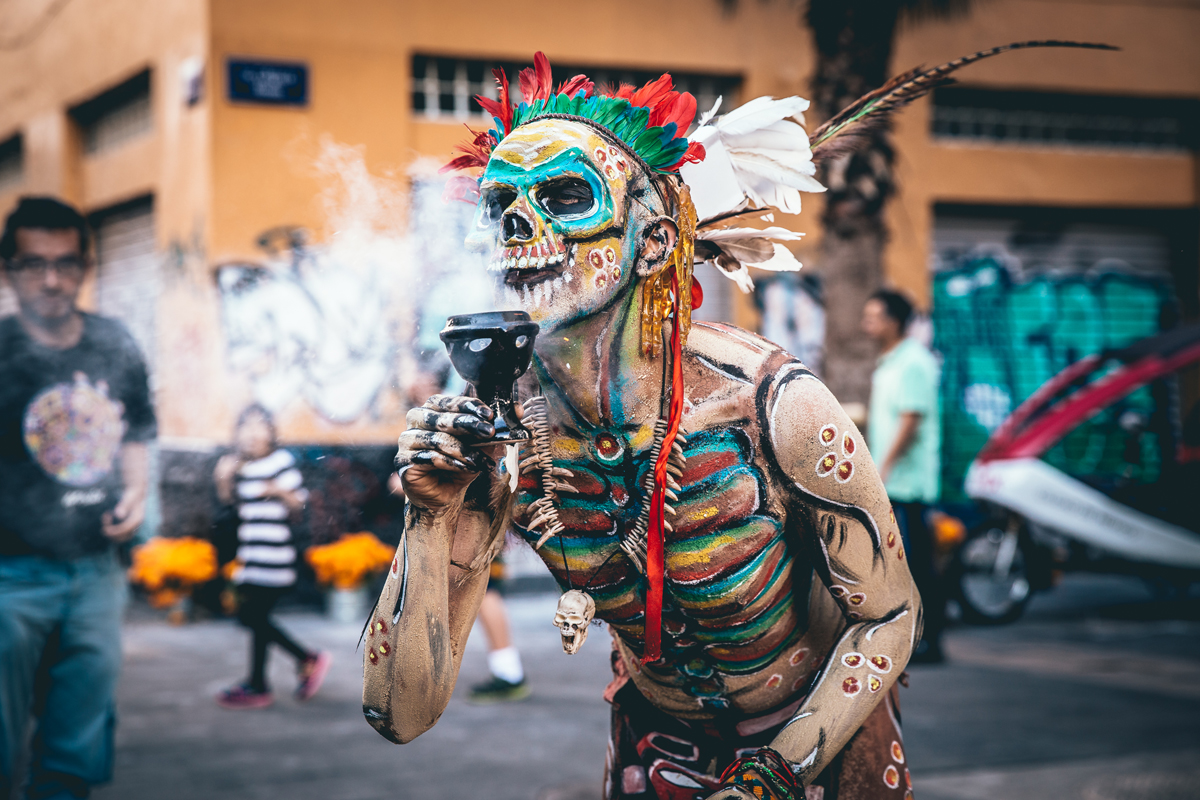 A photo by Kristina Bakrevski from Mexico City's Día de los Muertos celebration, 2017.