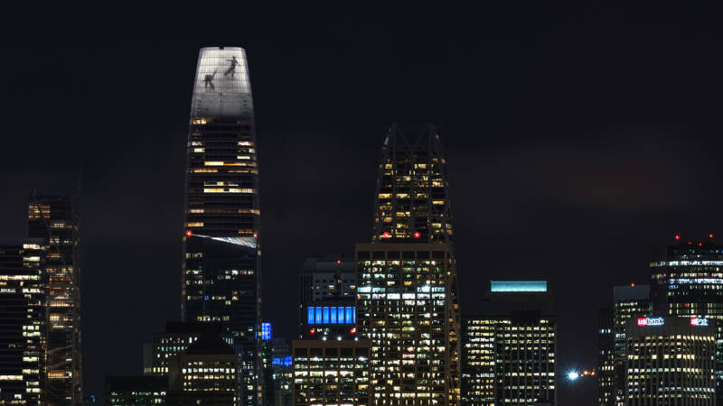 What are Those Weird Images on Top of the Salesforce Tower?