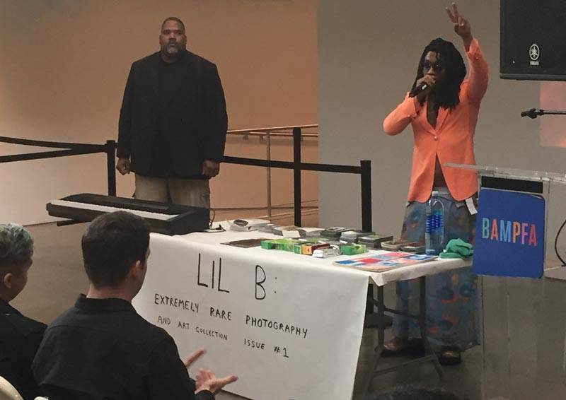 Lil B appears at BAMPFA in Berkeley, May 5, 2018.