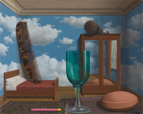 René Magritte, 'Les valeurs personnelles (Personal Values),' 1952.