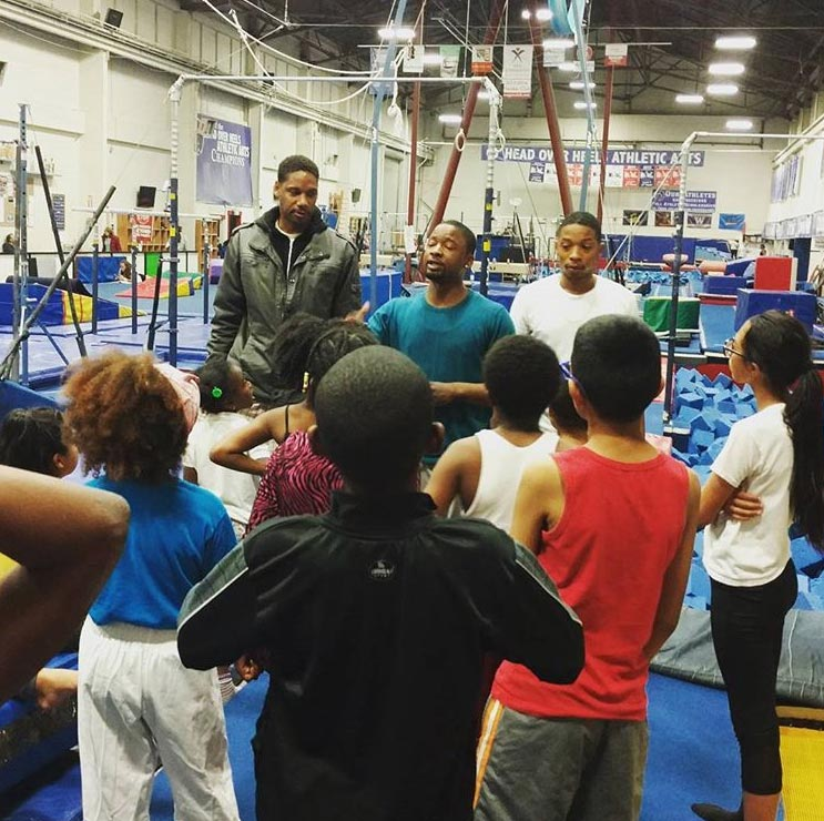 Zeus teaches a new generation at Head Over Heels gym in Emeryville.