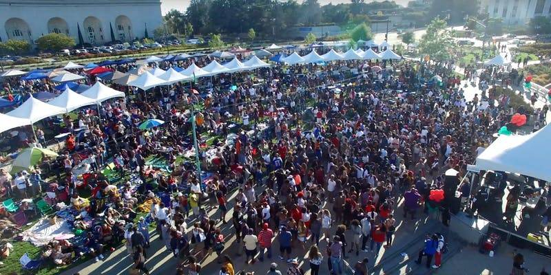 The Fam Bam party comes to Oakland's Lake Merritt every July 4.
