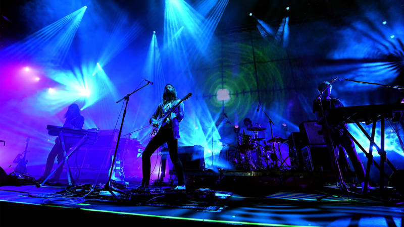 Tame Impala performs onstage during FYF Fest 2016 at Los Angeles Sports Arena on August 27, 2016.