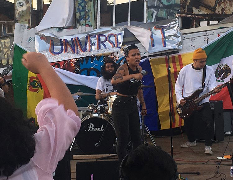 Provoke performing at The Universe Is Lit in 2017.