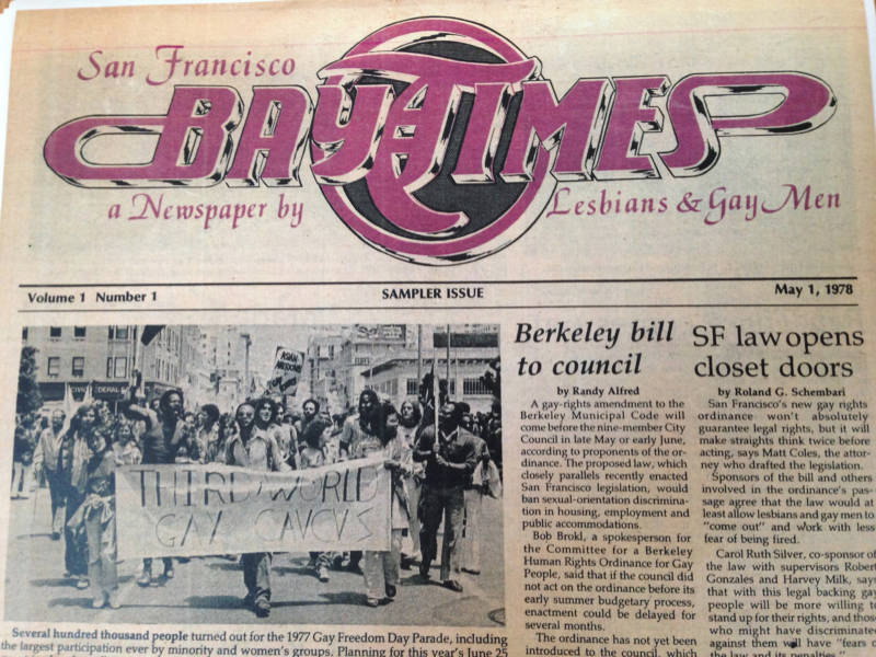 First issue of San Francisco Bay Times