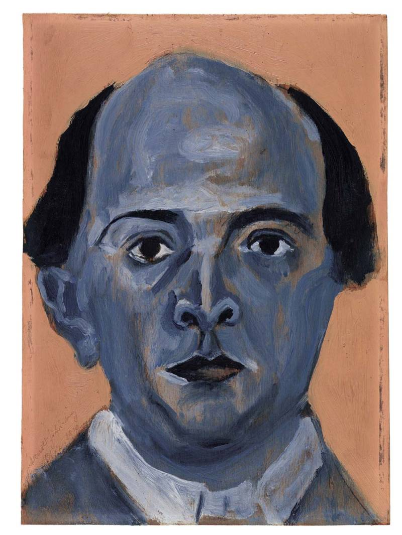 'Blue Self-Portrait' by Arnold Schoenberg.