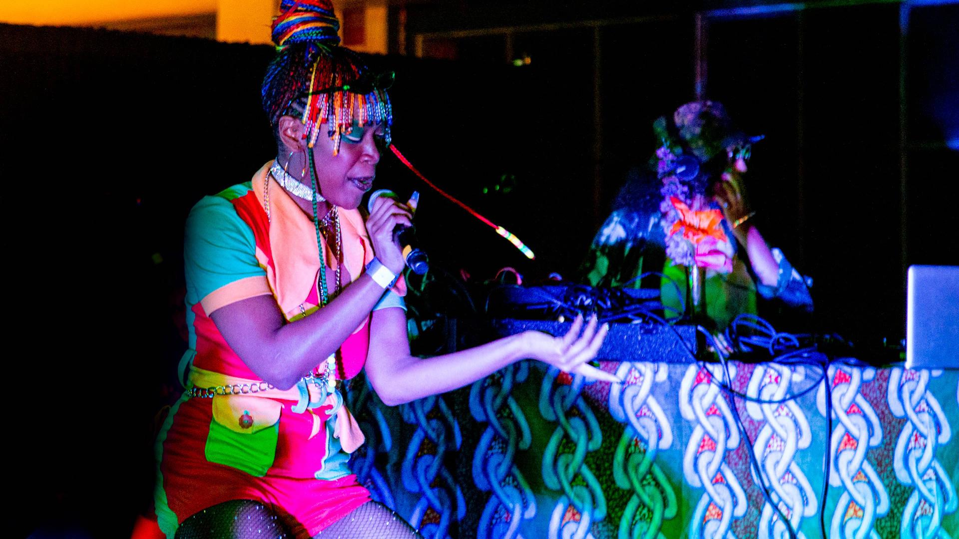 Bbymutha plays FEELS 6 at The Craneway Pavilion in Richmond on Saturday, June 16. (Estefany Gonzalez)