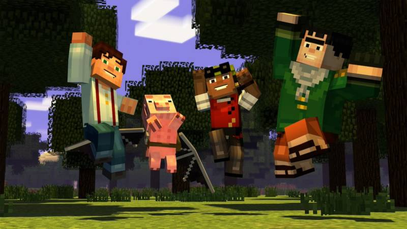 Screenshot from 'Minecraft: Story Mode'
