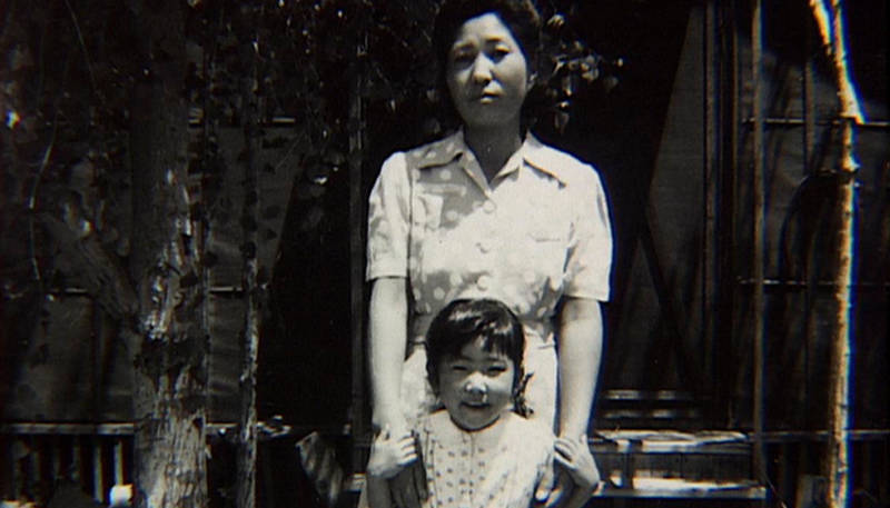 A still from 'Rabbit in the Moon' showing Emiko Omori and her mother in the Poston War Relocation Center in Arizona.