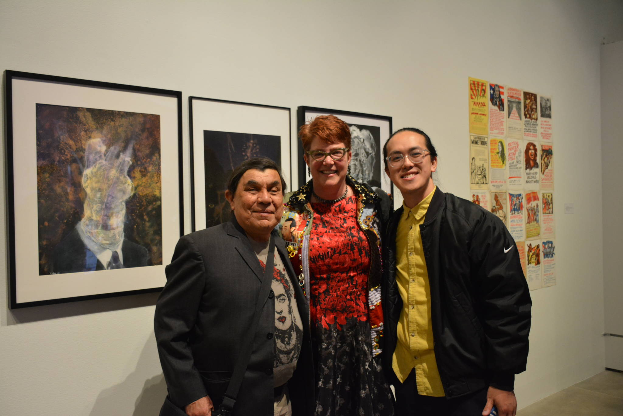 Artists René Yañez, Katie Gilmartin and Dominic Chen.