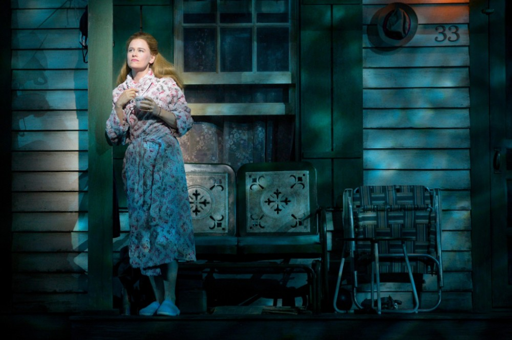 Pearl (Katie Brayben) sings about her youthful dream of being a reporter and wonders why she stopped believing it was possible in the world-premiere musical, 'A Walk on the Moon.'